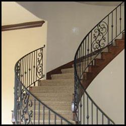 Berkeley Wrought Iron Stair Railings